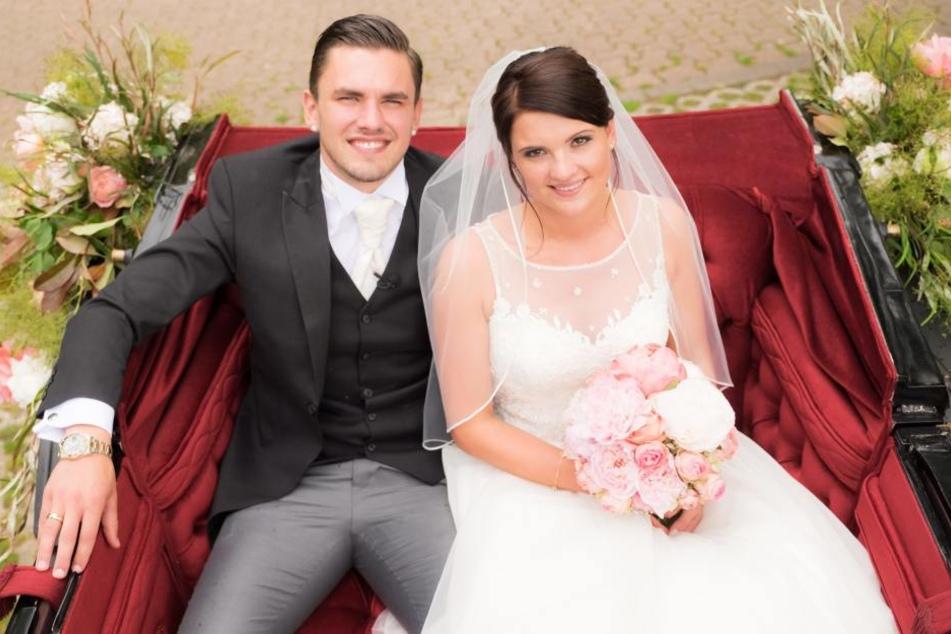 Pascal und seine Frau Michelle bei ihrer kirchlichen Hochzeit im Mai.