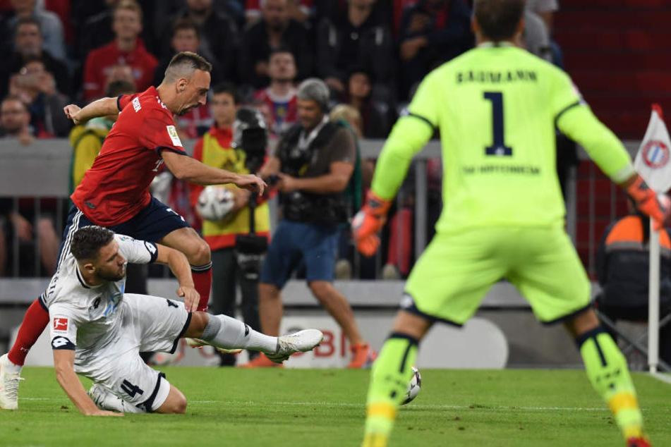 Hoffenheim versuchte vor allem über ein intensives Spiel Gegenwehr zu leisten.