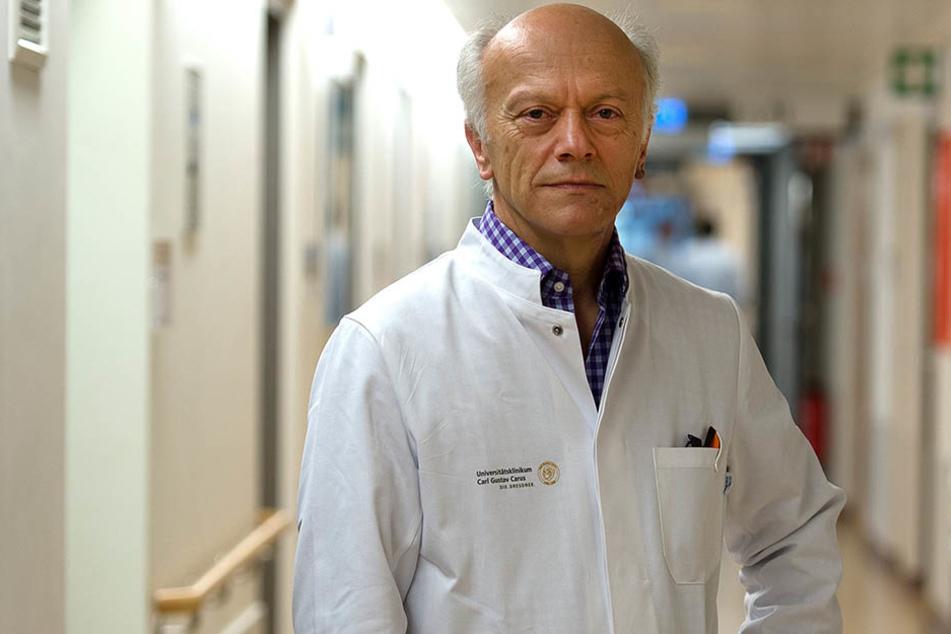 Professor Gerhard Ehninger (64) fordert mehr Engagement der Dresdner.