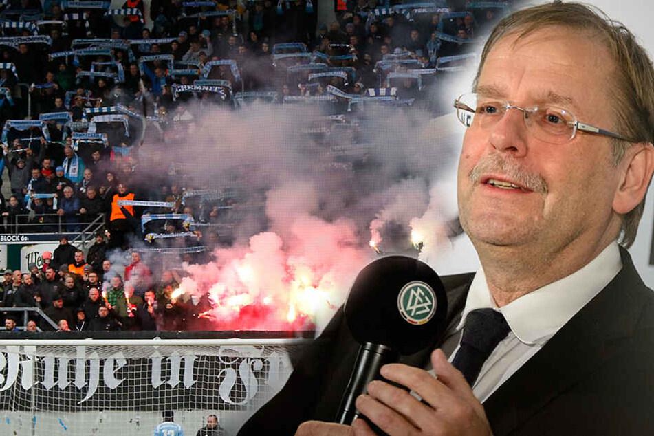Nach dem Nazi-Skandal beim CFC fordert DFB-Vizepräsident Rainer Koch eine eindeutige Reaktion der Stadt Chemnitz.