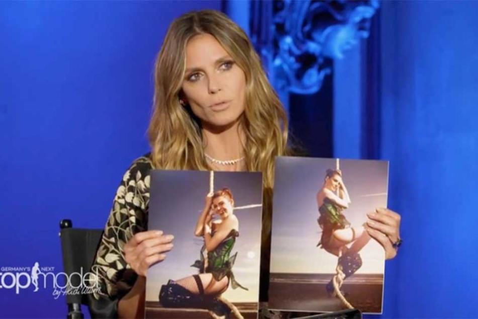 Das gab es noch nie: Heidi Klum hat für eines ihrer Models zwei Fotos.