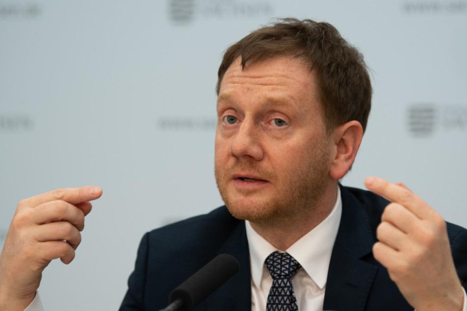 Michael Kretschmer äußerte sich am Mittwoch zur Situation an der deutsch-polnischen Grenze.
