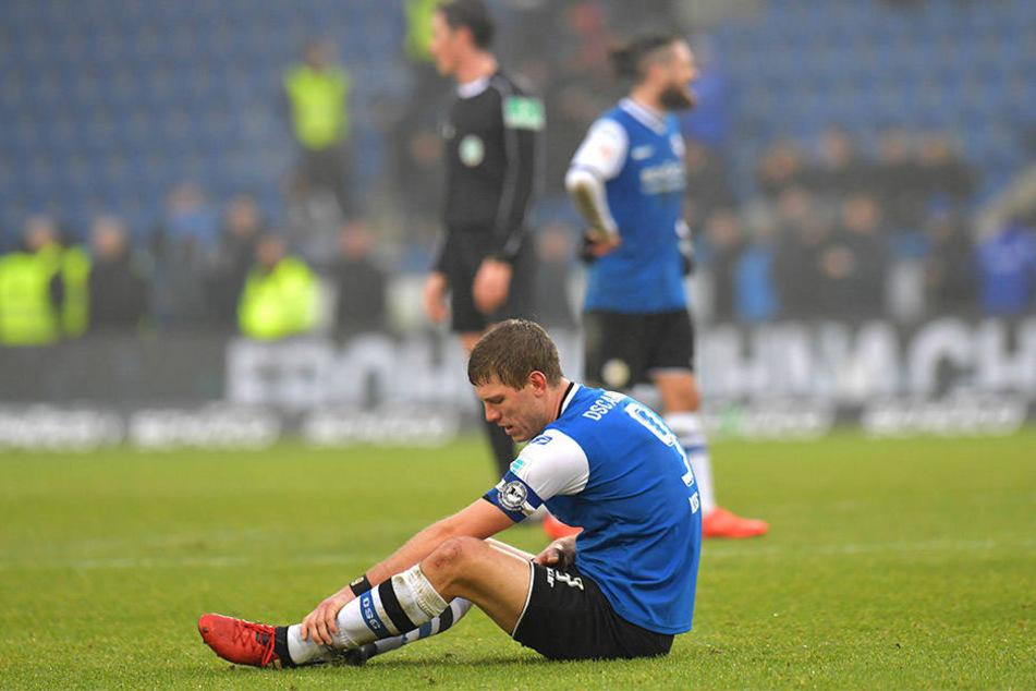 Sein Tor zum Ausgleich reichte nicht. Fabian Klos war nach dem Spiel enttäuscht.