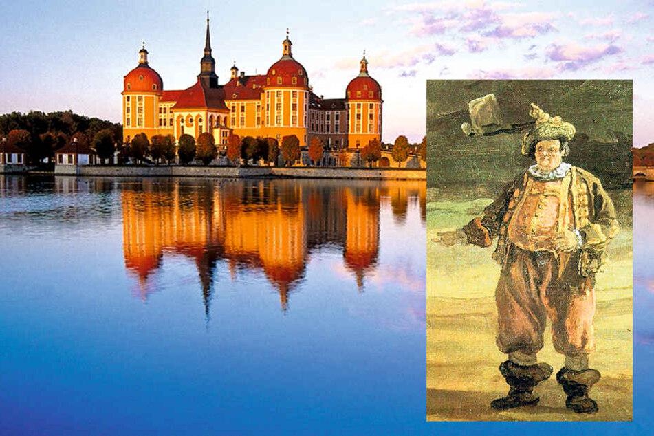 Hofnarr Fröhlich, hier porträtiert  von Canaletto, kehrt als Schatz-Büste zurück auf Schloss Moritzburg.