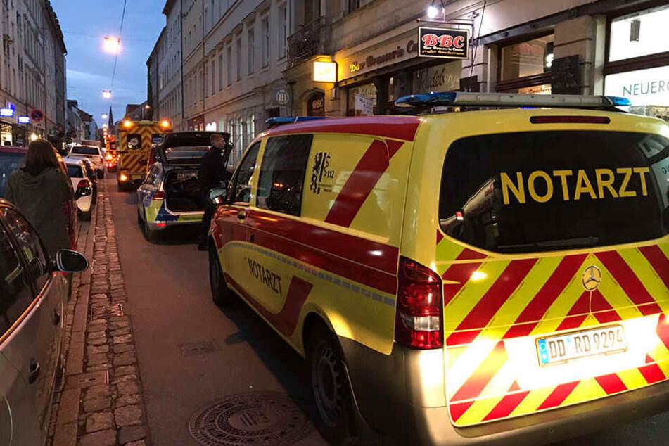 Das Wochenende fing in der Dresdner Neustadt mit einem Polizeieinsatz an.