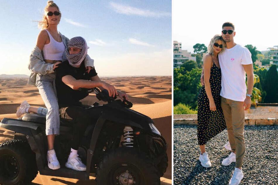 """Dustin Schöne stelle bereits im April klar: """"Lena gehört zu mir"""", jetzt postet auch die Blondine ein offizielles Paar-Bild auf Instagram."""