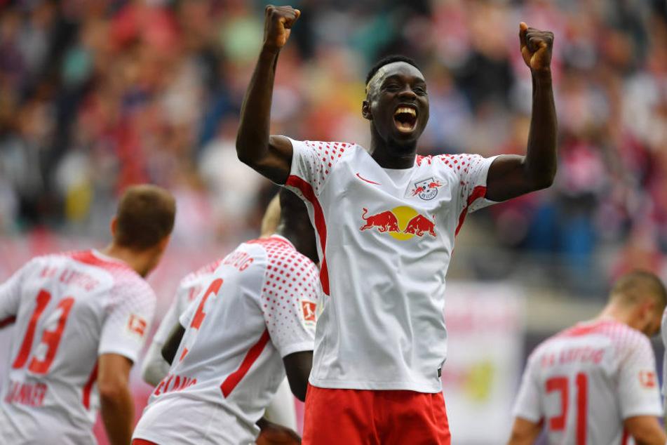 Einer der Matchwinner! Jean-Kevin Augustin erzielte das 1:0 gegen Eintracht Frankfurt.