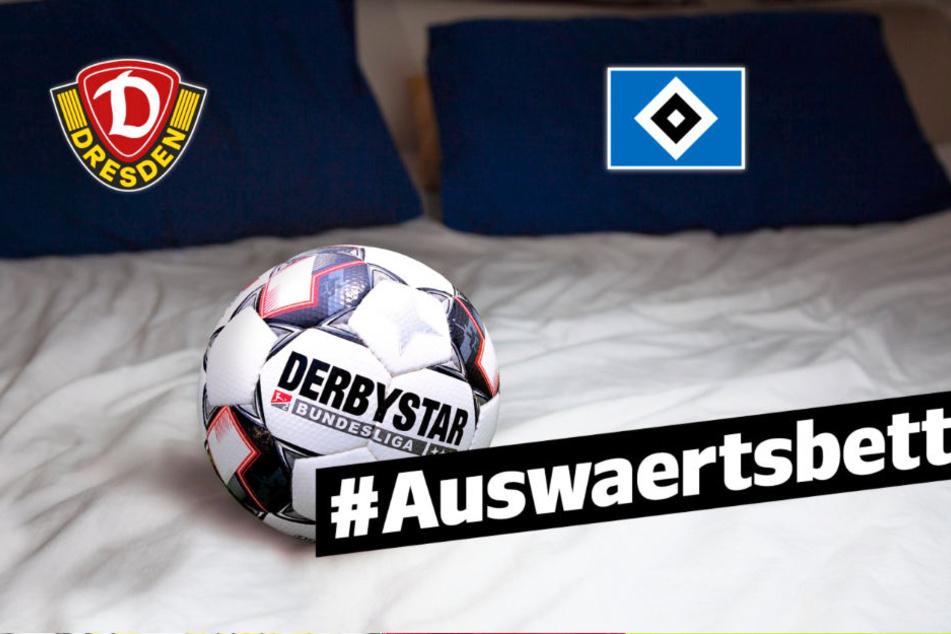 Unter dem Hashtag #Auswaertsbett sollen die HSV- und Dynamo-Fans miteinander kommunizieren.