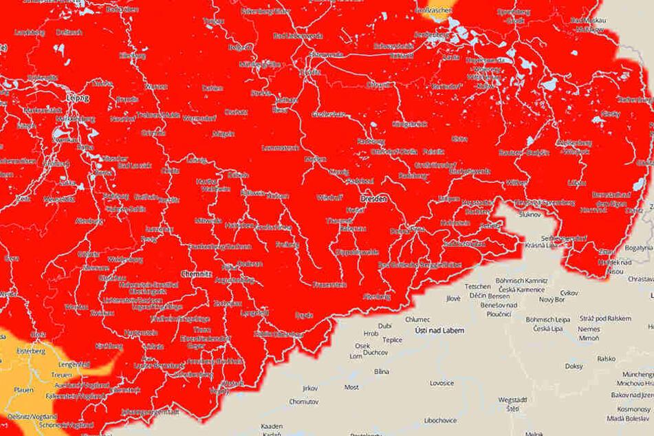 In ganz Sachsen wird vor Sturm gewarnt, im Erzgebirge kommt auch Neuschnee.