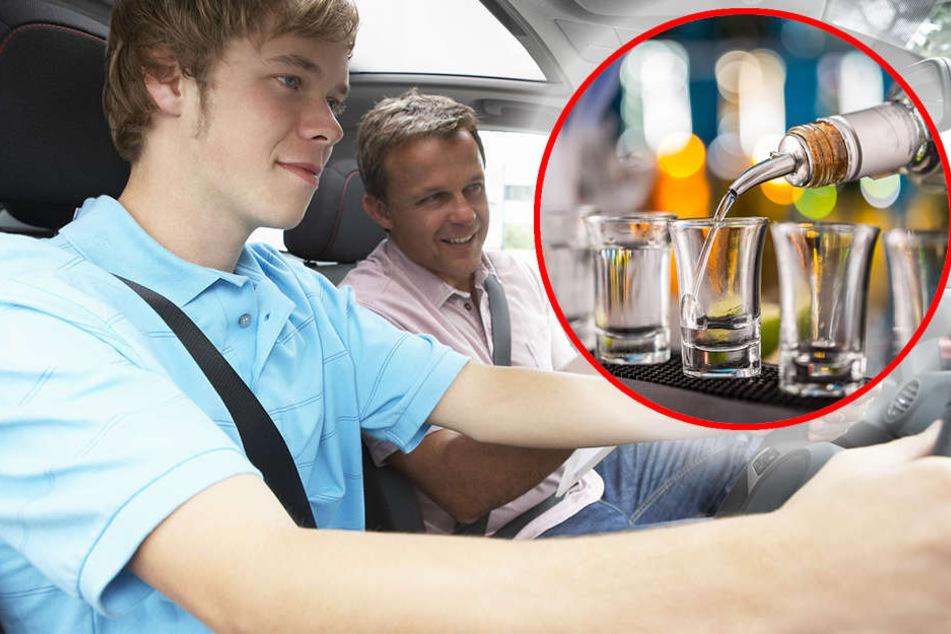 Fahrschüler kracht gegen Wand: Fahrlehrer sitzt betrunken daneben