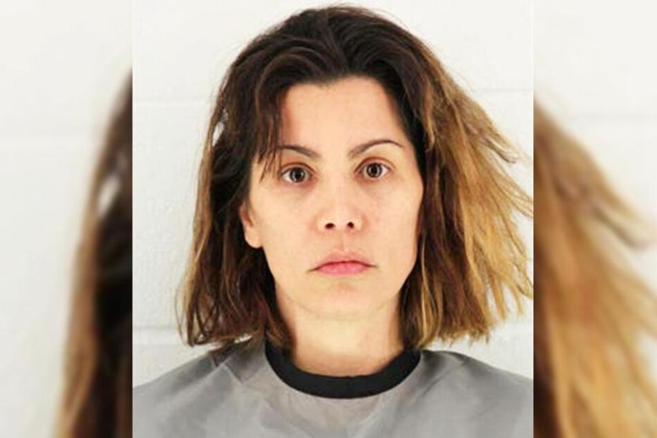 Mollie Fitzgerald (38) nach ihrer Verhaftung.