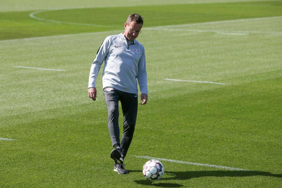 RB-Coach Ralf Rangnick will nach dem Finaleinzug im DFB-Pokal im anstehenden Ligaspiel gegen Freiburg nicht rotieren.