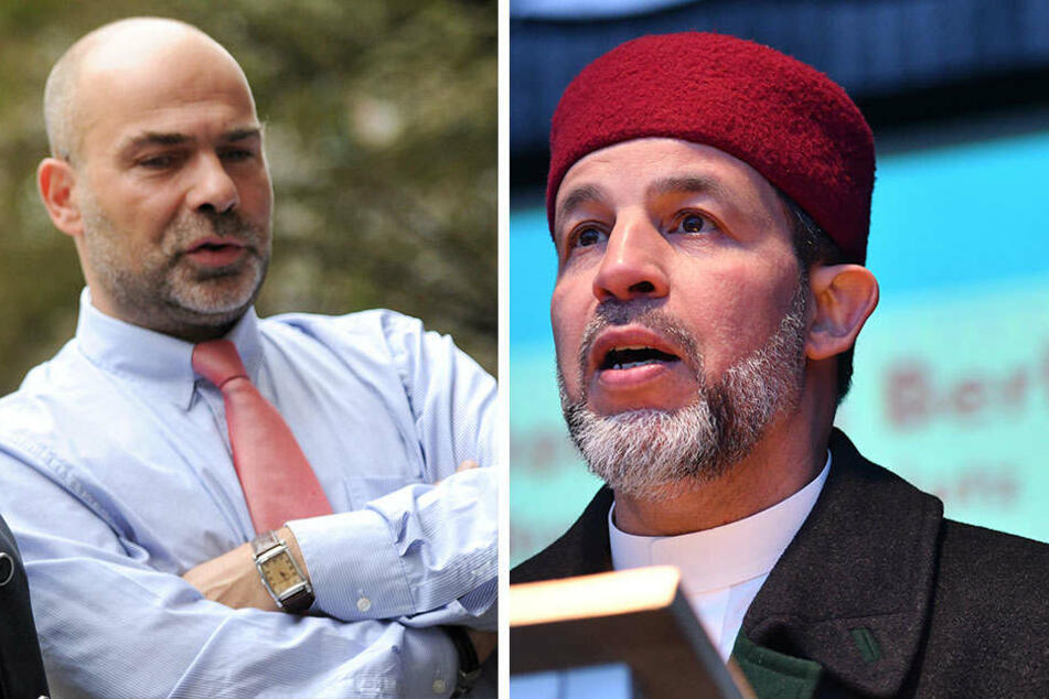 Islamismusexperte Erol Özkaraca (links) erhebt schwere Vorwürfe gegen Imam Mohamed Taha Sabri.