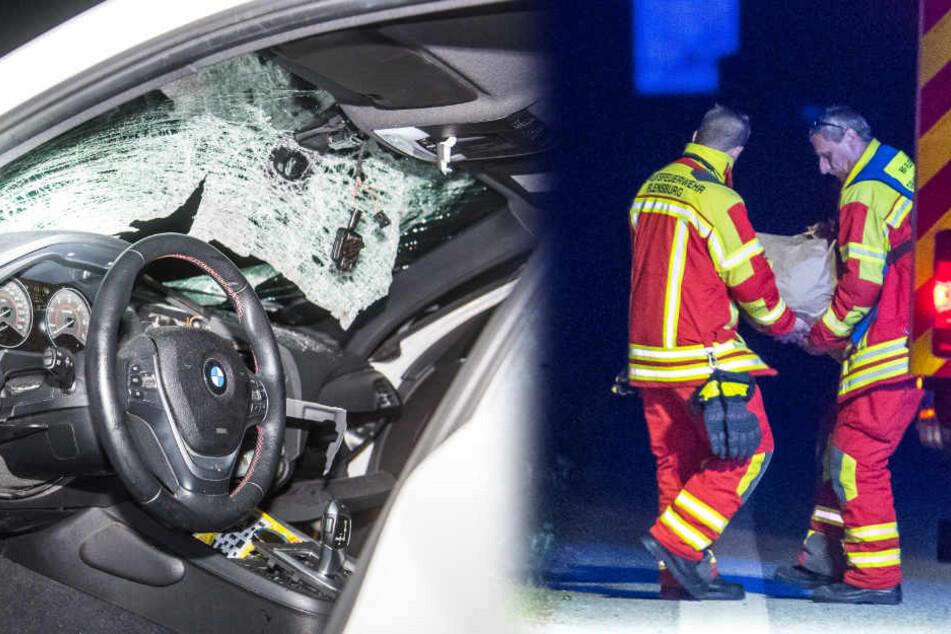 Steinwürfe von Autobahnbrücke! Polizei sucht zwei Autofahrer