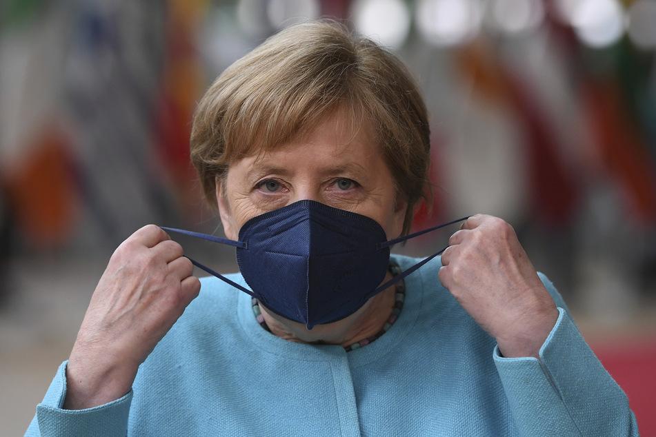 Bundeskanzlerin Angela Merkel (67, CDU) beim Gipfel der EU-Staats- und Regierungschefs in Brüssel.