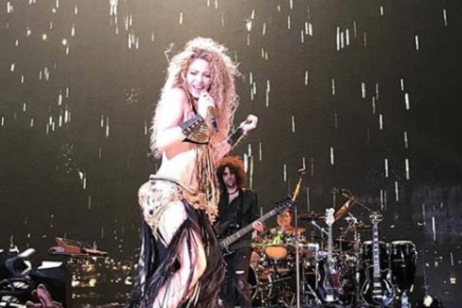 Gerard Piqué postete nach dem Shakira-Konzert dieses Foto vom Auftritt seiner Gattin in Köln.
