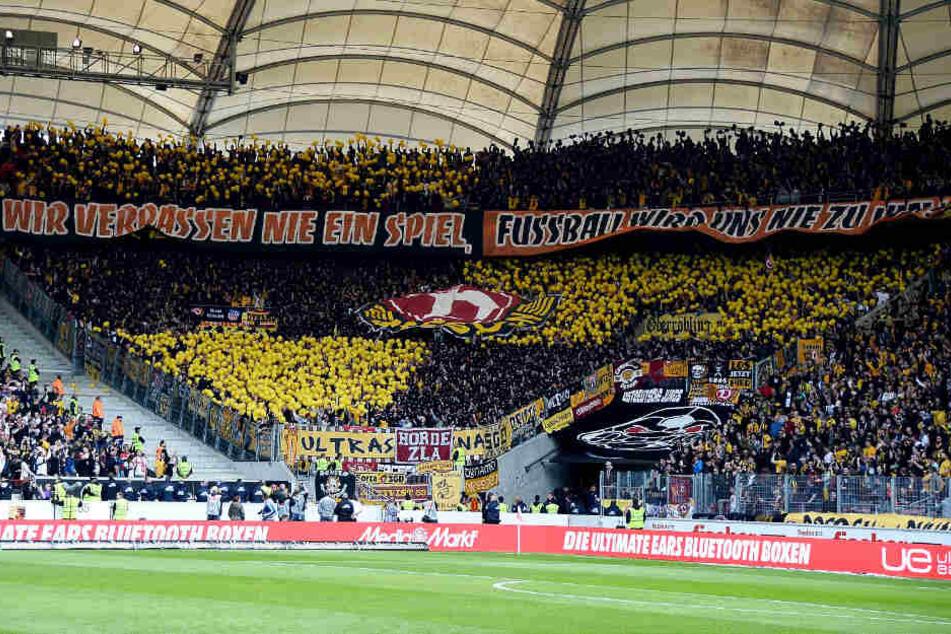 Wir vor zwei Jahren: Auch in Stuttgart werden viele Dynamo-Fans ihre Mannschaft unterstützen.