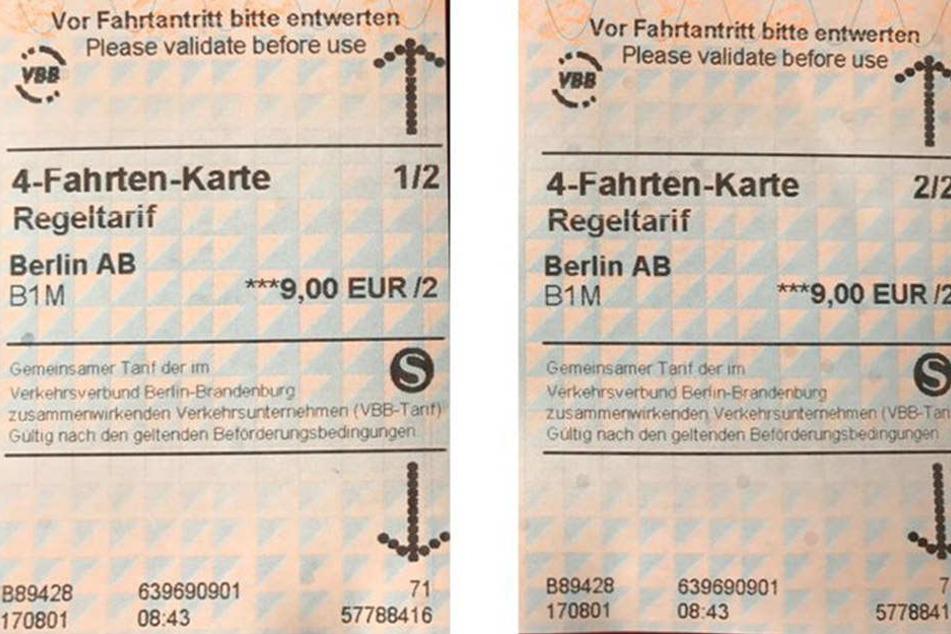 Die 4-Fahrten-Karte kostet euch 9 Euro (AB), 12 Euro (BC) und 13,20 Euro (ABC).
