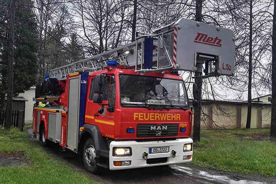 Die Hebebühne der Feuerwehr war zu klein.