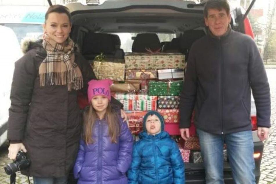 Das Ehepaar Klaudyna (li.) und Ulrich Droske macht sich seit fünf Jahr mit einem Auto voller Geschenke auf den Weg nach Polen.