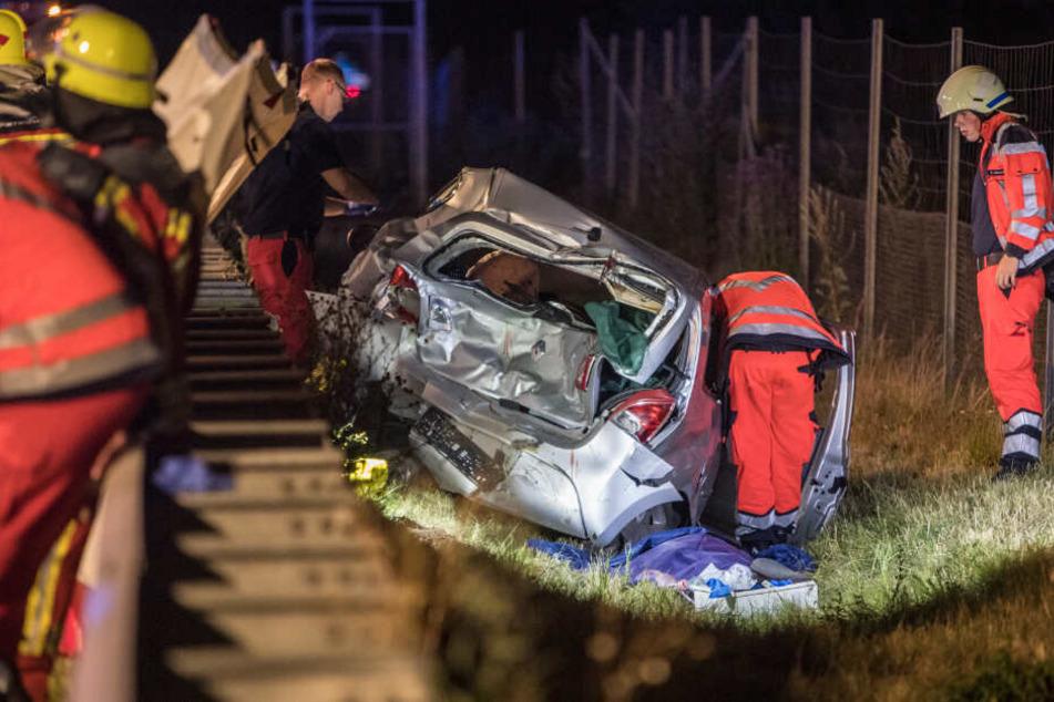 Tödlicher Unfall auf der A7! Autofahrer hatte keine Chance