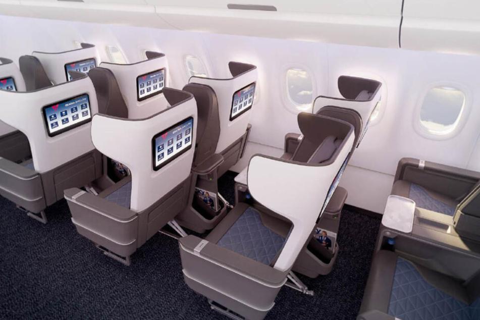 Die erste Klasse wird bei Delta-Flügen etwas enger, aber dennoch komfortabel.