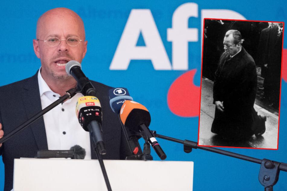 """""""Grober Missbrauch"""": AfD wirbt mit Willy Brandt-Plakaten für Landtagswahl"""