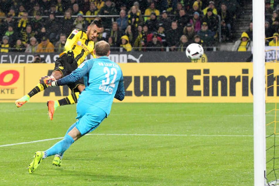 Das 1:0 durch Pierre-Emerick Aubameyang ebnete den Dortmundern den Weg zum Heimerfolg.