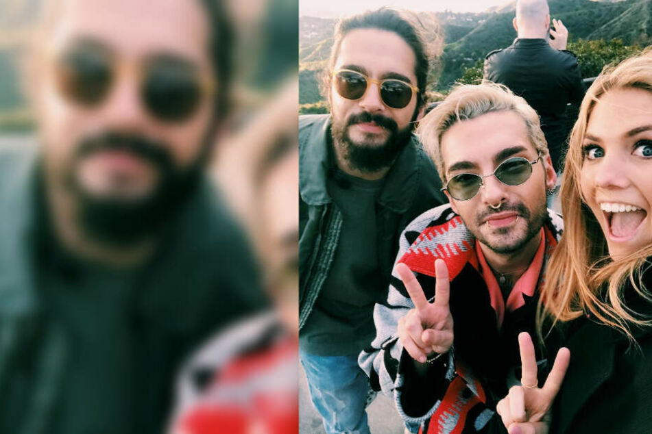 Viviane Geppert postete ein Bild mit Tom und Bill Kaulitz auf Instagram.