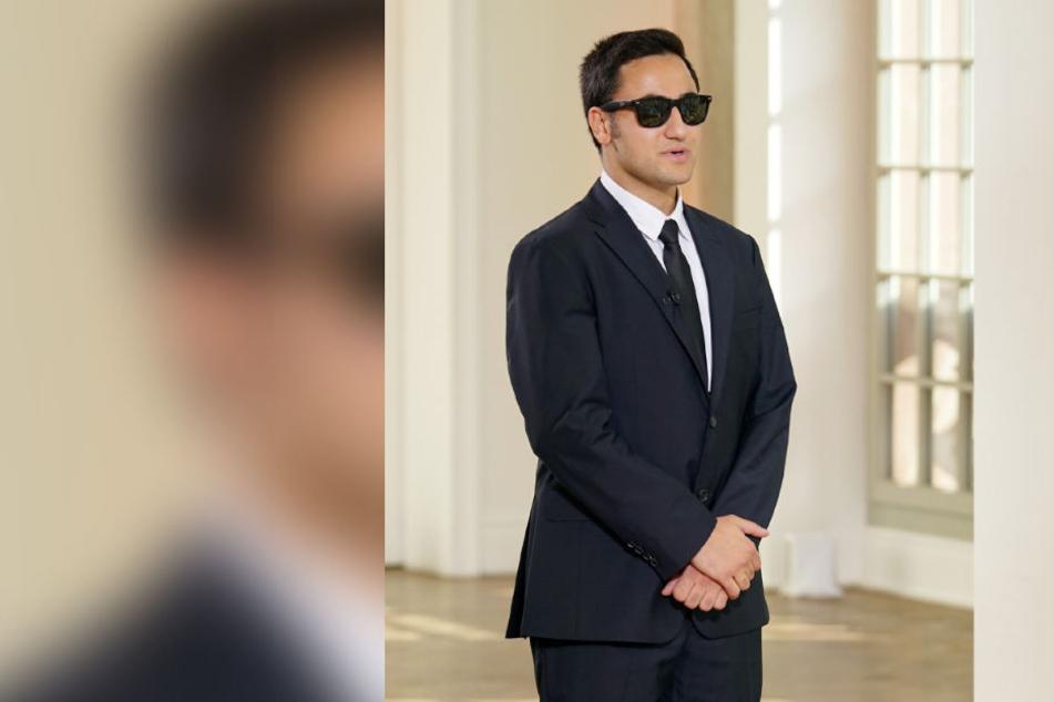 Coole Sonnenbrille, cooler Anzug - doch Elias merkte man an, dass er aufgeregt war.