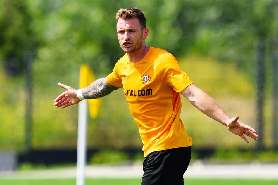 Dynamo-Neuzugang Michael Sollbauer übernahm direkt Verantwortung und dirigierte seine Nebenleute lautstark.