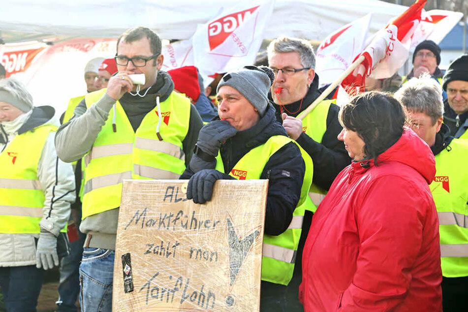 Bei Teigwaren Riesa erreichten die Mitarbeiter auch mit Warnstreiks die Tarifbindung.