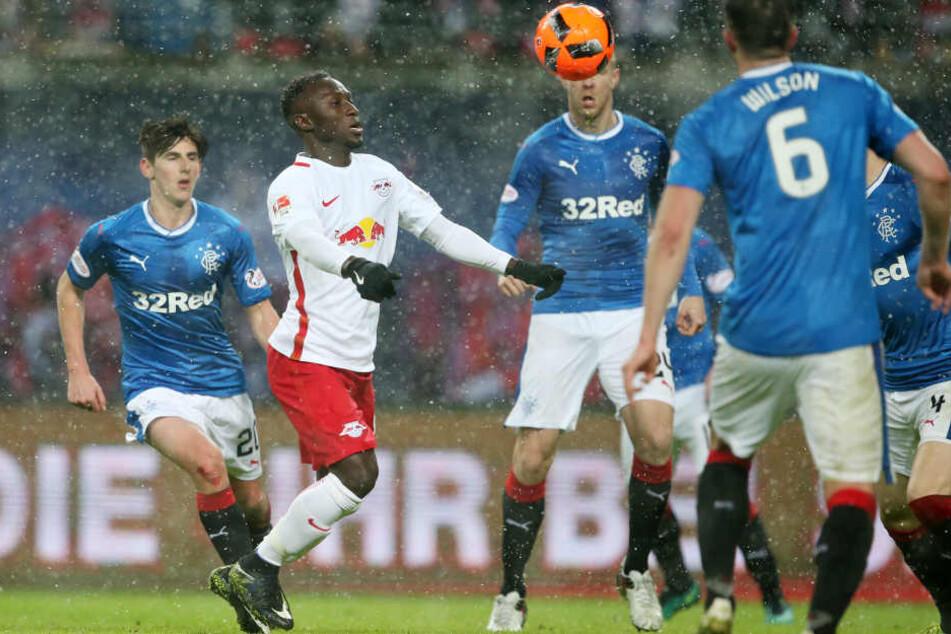 Gegen die Rangers musste Keita nach nicht einmal einer Halbzeit den Platz verlassen.