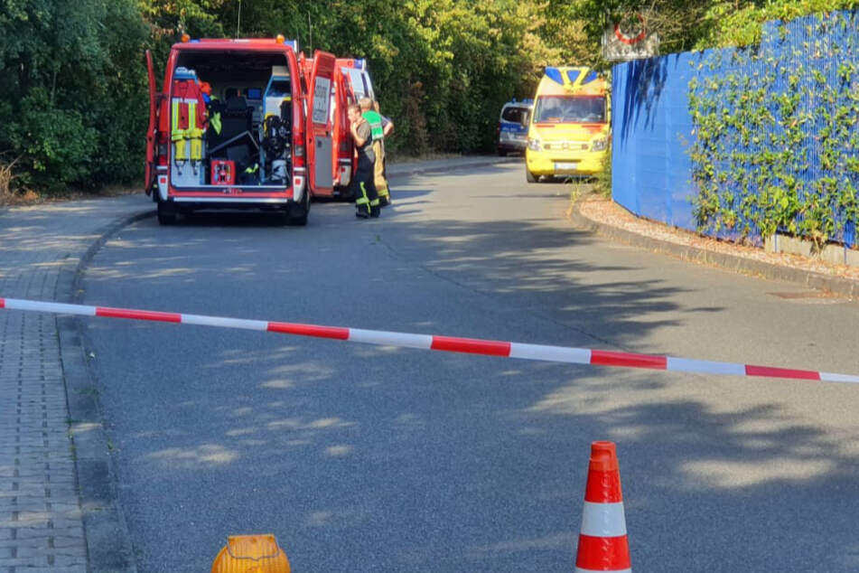 Reizendes Gas im Polizeirevier Markkleeberg ausgetreten: Gebäude geräumt