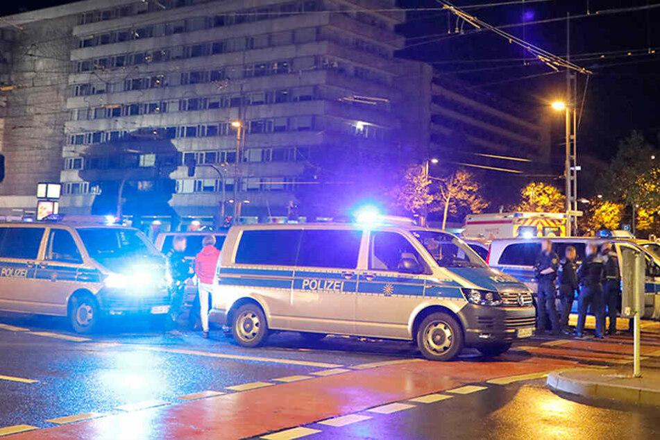 Zwei Verletzte bei Auseinandersetzung in Chemnitzer City: Großeinsatz der Polizei!
