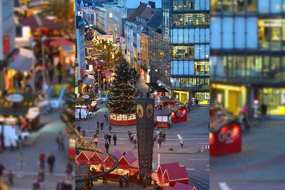 Der Bielefelder Weihnachtsmarkt zieht sich quer durch die Innenstadt – von der Bahnhofstraße über den Jahnplatz bis in die Altstadt.