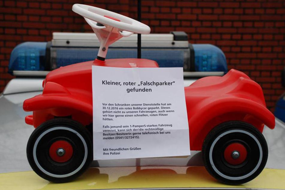 """Mit diesem Foto fahndete die Polizei Osnabrück nach dem """"Falschparker""""."""