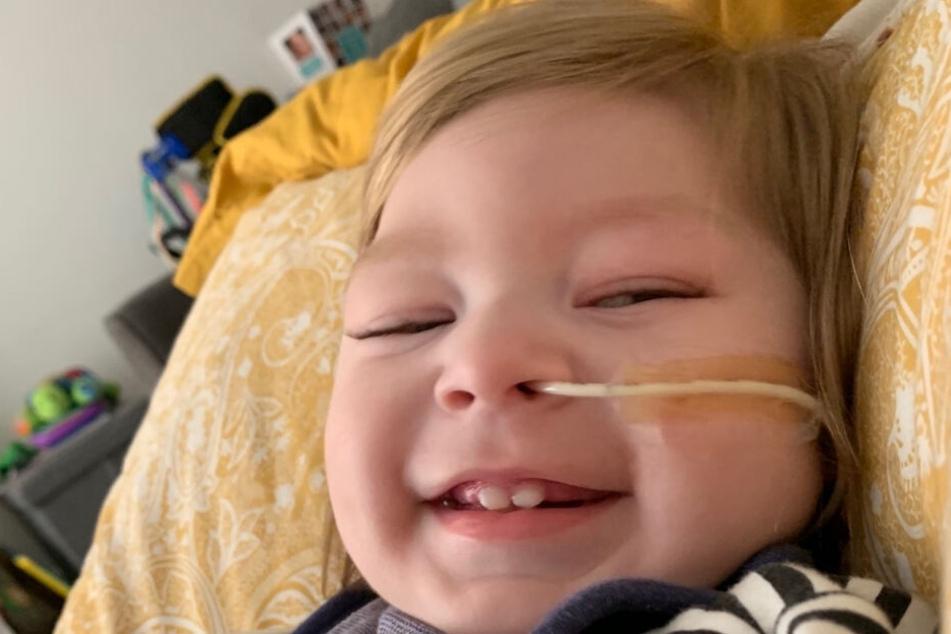 Auch wenn er es schwer hat, Oscar Bedford lächelt gerne.