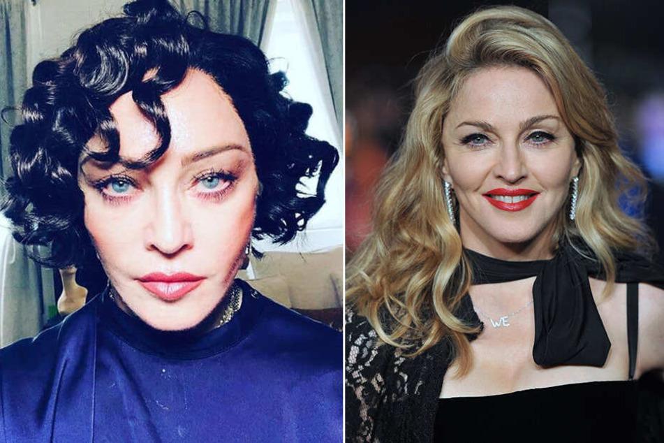 Links: Madonna im Januar 2019. Rechts: Madonna mit ihrem typischen Look im Januar 2012.