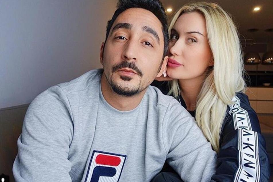 Der Kölner Rapper Eko Fresh mit seiner Frau Sarah.