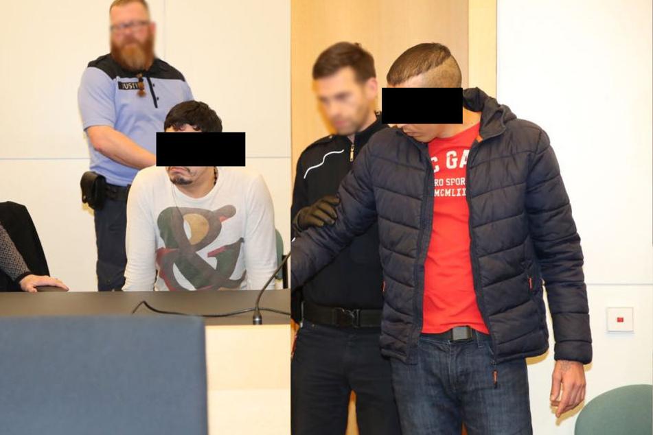 Am Landgericht gab es am Donnerstag die Urteile - Chakir A. (24, li.) aus Marokko: 3 Jahre 2 Monate. Radouan K. (27) aus Libyen muss 2 Jahre neun Monate hinter Gitter.