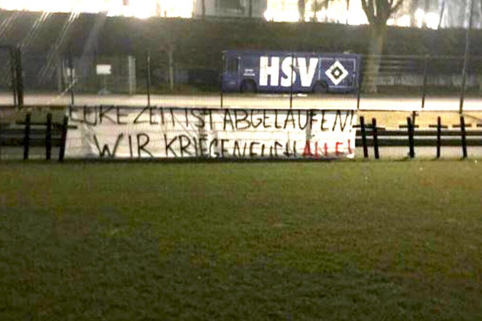 Die Anhänger des Hamburger SV hatten eine unmissverständliche Botschaft für die Profis.