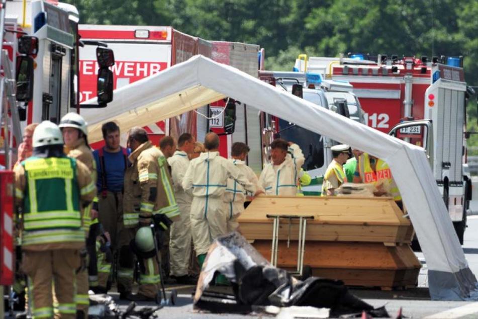 18 Menschen starben in den Flammen, darunter der 55 Jahre alter Busfahrer.