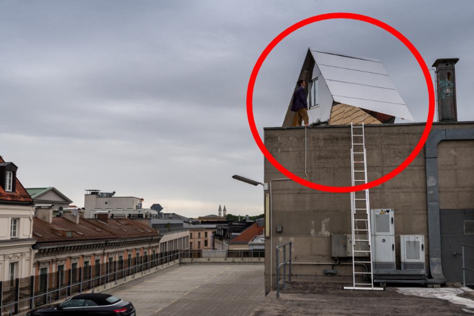 """""""Parasit"""": Deshalb steht auf diesem Dach in München ein Mini-Haus"""