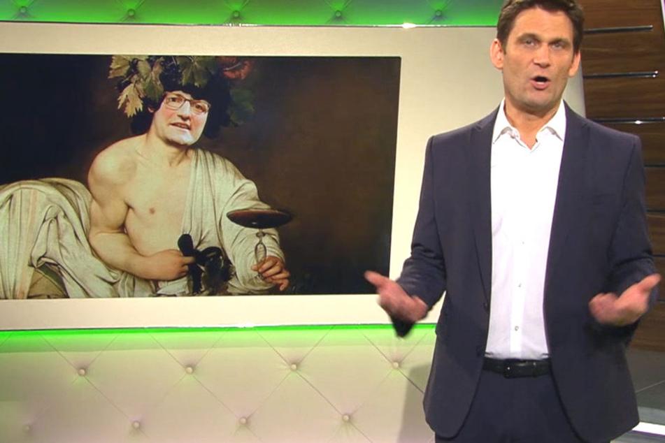 """Gefundenes Fressen für Moderator Christian Ehring (45, """"Extra 3""""): Spahn landet in Satire-Show."""