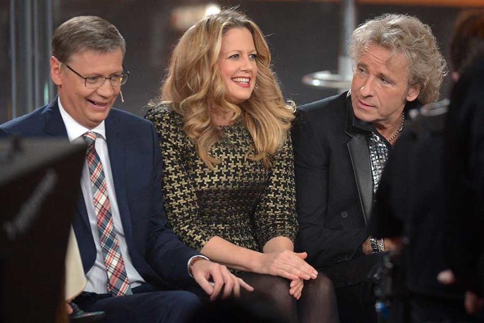 Zurück auf Sendung: Günther Jauch (61, v.l.), Barbara Schöneberger (44) und Thomas Gottschalk (68) bekommen ab Herbst eine neue Show bei RTL.