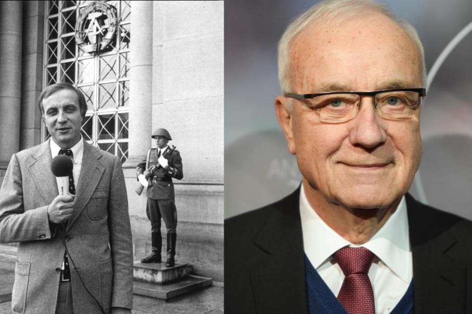 Damals und heute: Fritz Pleitgen als Korrespondent in Ost-Berlin 1979 (l.) und vor seinem 80. Geburtstag am 21.03.2018.