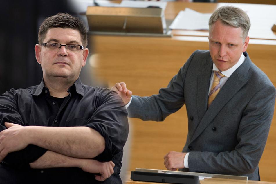 Andrej Holm (46, li.) und Sebastian Scheel (41, Die Linke).