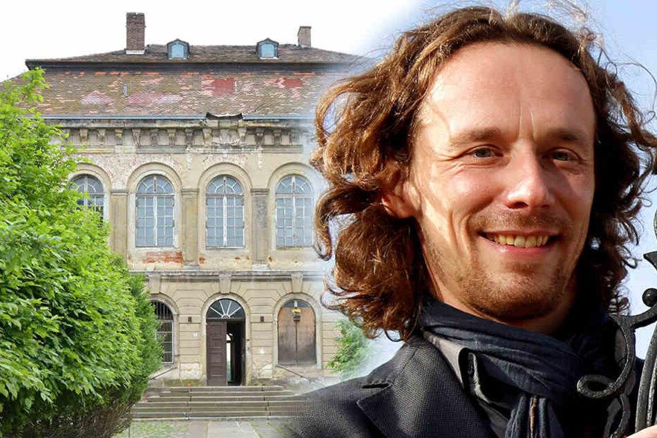 Wann es am Schloss Übigau weitergeht, kann Investor Frank Wießner (43) noch nicht sagen.