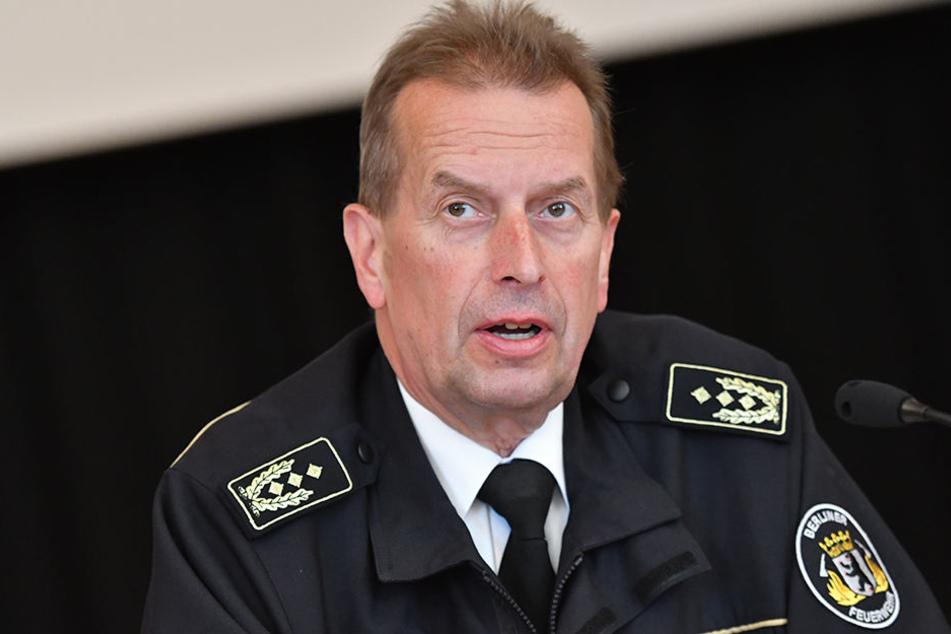 Landesbranddirektor Wilfried Gräfling stellte die Zahlen zur Jahresbilanz am Freitag vor.